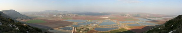 Panorama of the Charod Valley seen from the Gilboa Hills צילום: Beivushtang