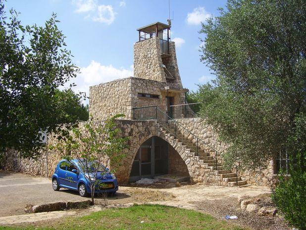 """המצפה ביודפת צילום:ד""""ר אבישי טייכר"""
