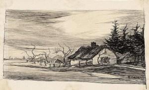 ציור של בית המחבוא על ידי בציירת Gretha Pieck.  גרתה נפטרה משפעת ספרדית בשנת 1919.