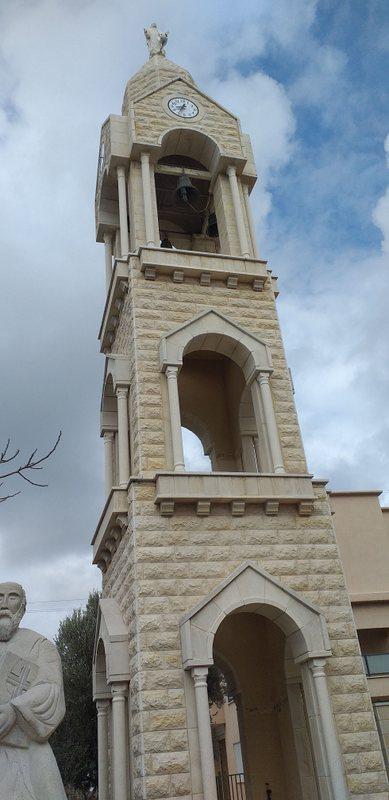 מגדל הכנסייה המארונית החדשה בגוש חלב