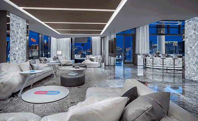 Las Vegas Strip Hd Wallpaper Damien Hirst Designs The Empathy Suite At The Palms Casino