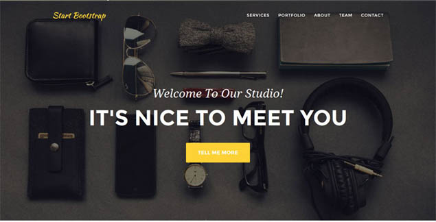 10 Fresh Free Bootstrap Templates This March 2015 - nice templates