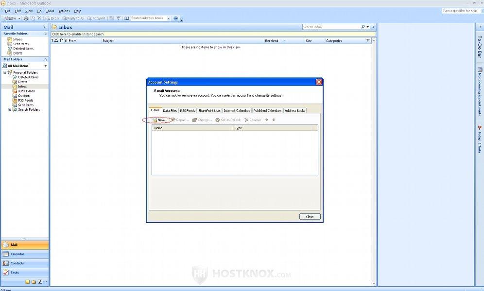 HostKnox  Microsoft Outlook 2007 Tutorial