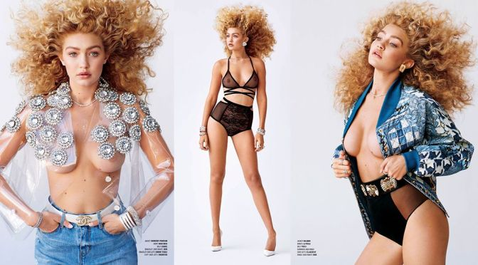 Gigi Hadid – V Magazine Topless Photoshoot
