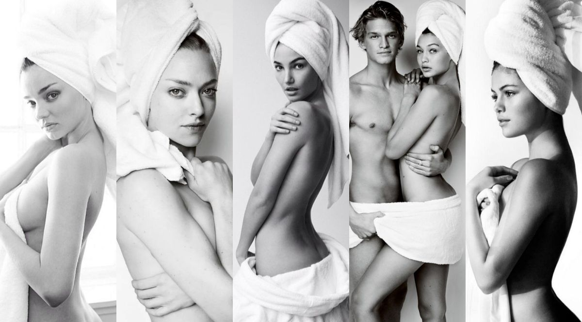 Various Celebs - Mario Testino Towel Series Photoshoot