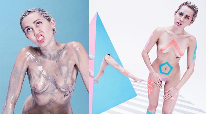 Miley Cyrus – Paper Magazine Naked Photoshoot (NSFW)