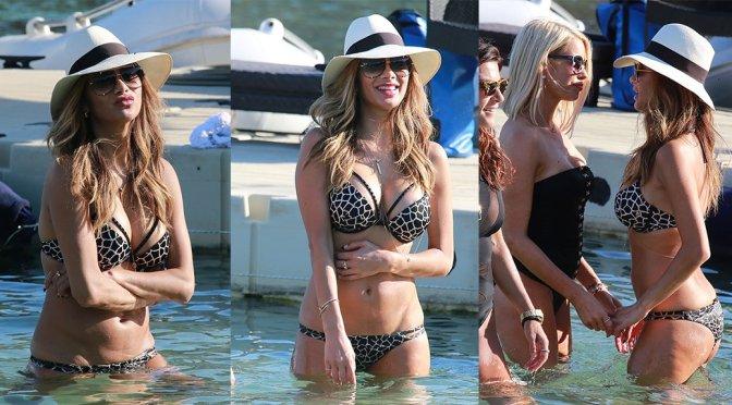 Nicole Scherzinger – Bikini Candids in Mykonos