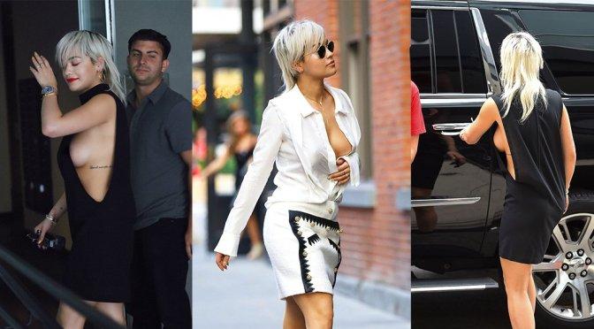 Rita Ora – Braless Candids in New York City