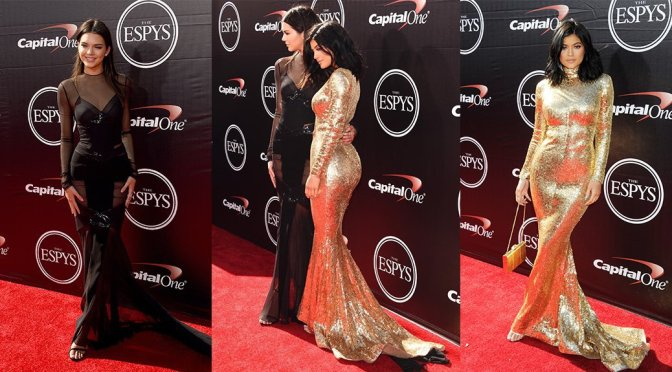 Kendall & Kylie Jenner – 2015 ESPY Awards in Los Angeles