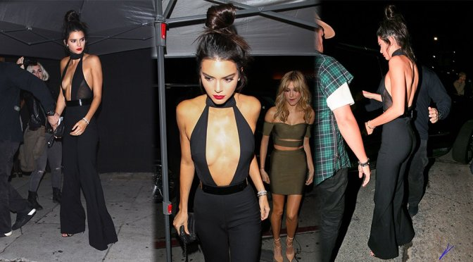 Kendall Jenner – Braless Candids in Los Angeles