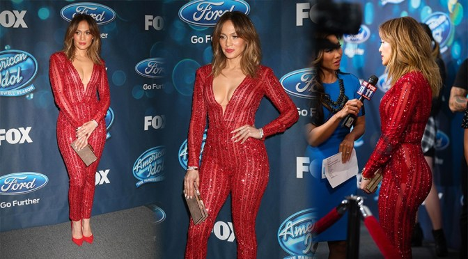 "Jennifer Lopez – ""American Idol XV"" Finalists Event in West Hollywood"