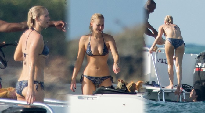 Jennifer Lawrence – Bikini Candids in Bahamas