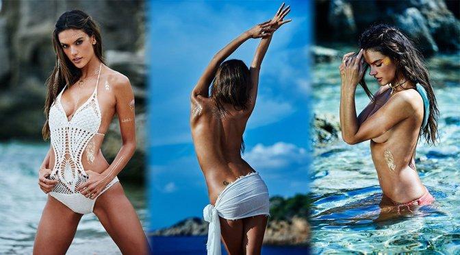 Alessandra Ambrosio – Ale by Alessandra Ambrosio Body Art Art Photoshoot