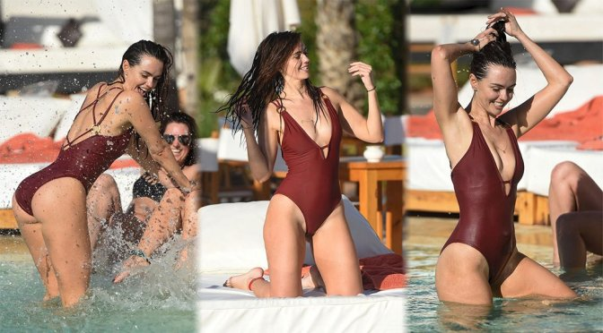 Jennifer MetCalfe – Swimsuit Candids in Morocco