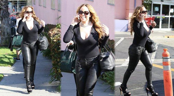 Mariah Carey – Cleavage Candids in Los Angeles