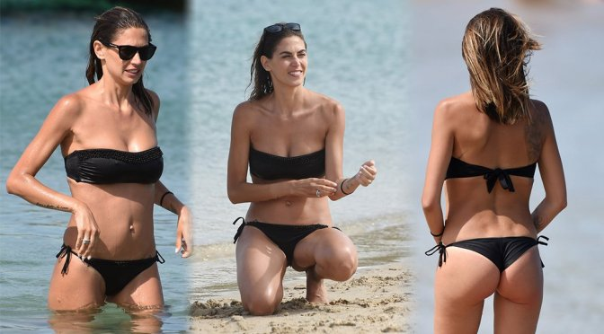 Melissa Satta – Bikini Candids in Porto Cervo