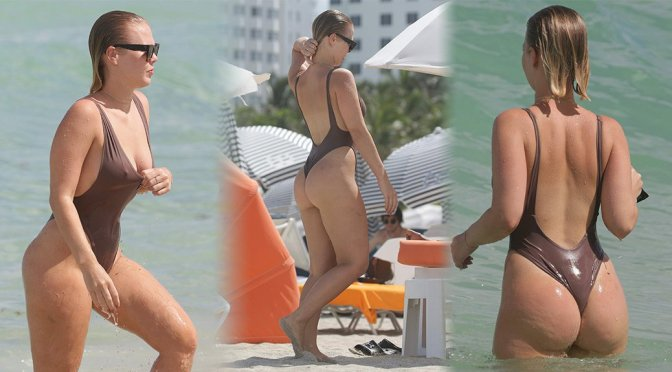 Bianca Elouise – Swimsuit Candids in Miami