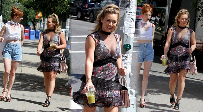 "Hilary Duff on ""Younger"" Movie Set in New York"