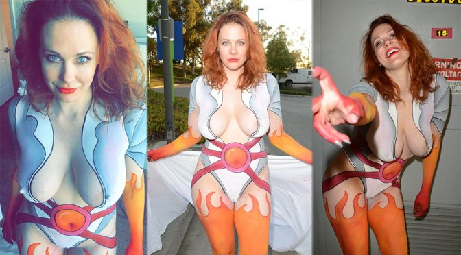 Maitland Ward – Bodypaint Naked Candids at Comic-Con