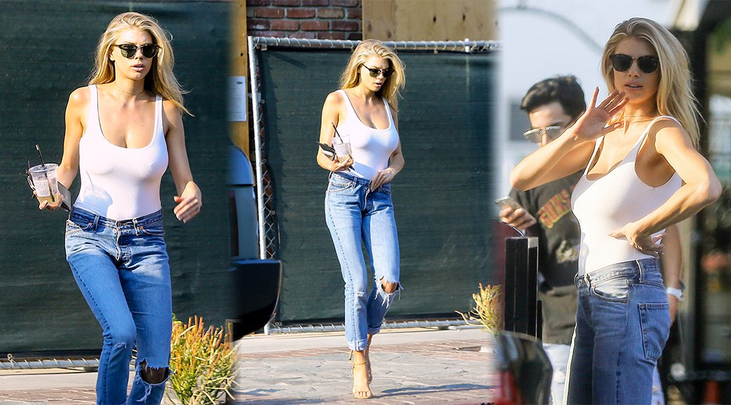 Charlotte McKinney - Braless Candids in West Hollywood
