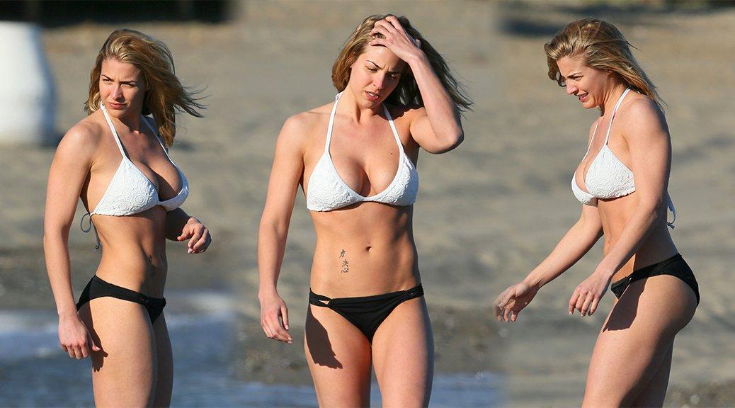 Gemma Atkinson - Bikini Candids in Marbella