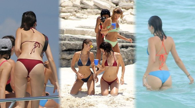 Kendall Jenner – Bikini Candids in Turks and Caicos