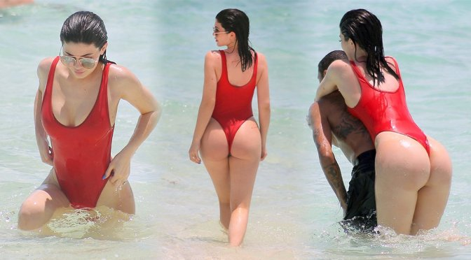 Kylie Jenner – Swimsuit Candids in Turk and Caicos