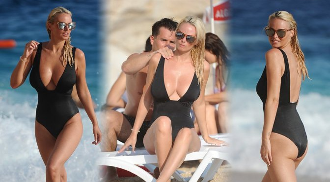Rhian Sugden – Swimsuit Candids in Turkey