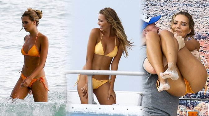 Sandra Kubicka – Bikini Photoshoot Candids in Miami