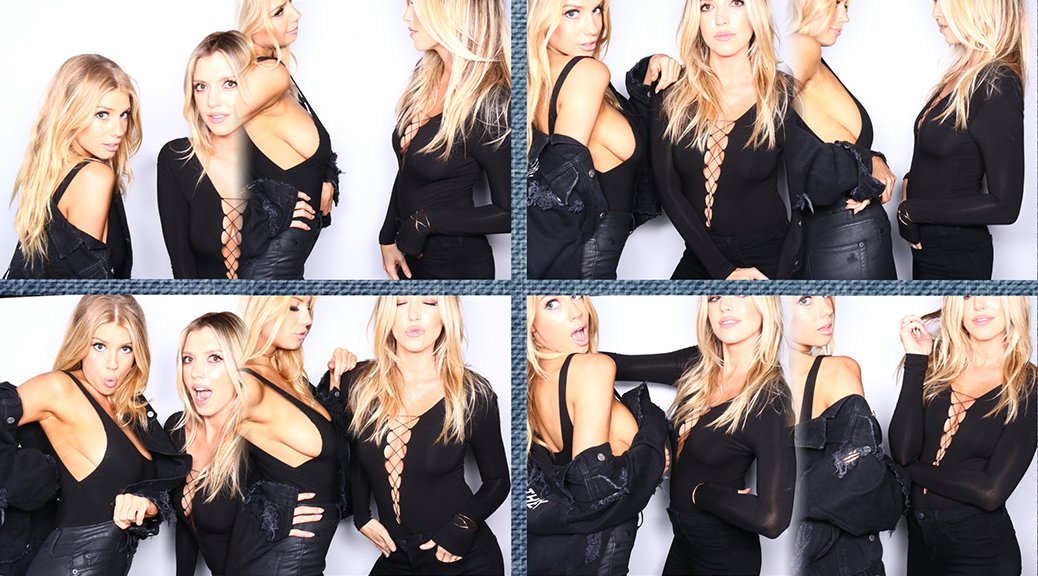 Charlotte McKinney - Photobooth at Jessica Alba's JAXDL1961 Party
