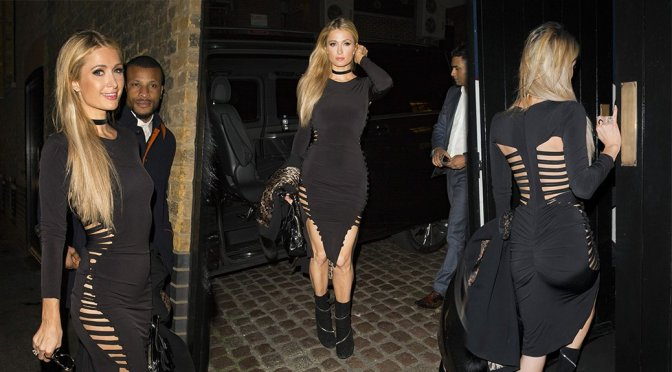 Paris Hilton at Chiltern Firehouse in London