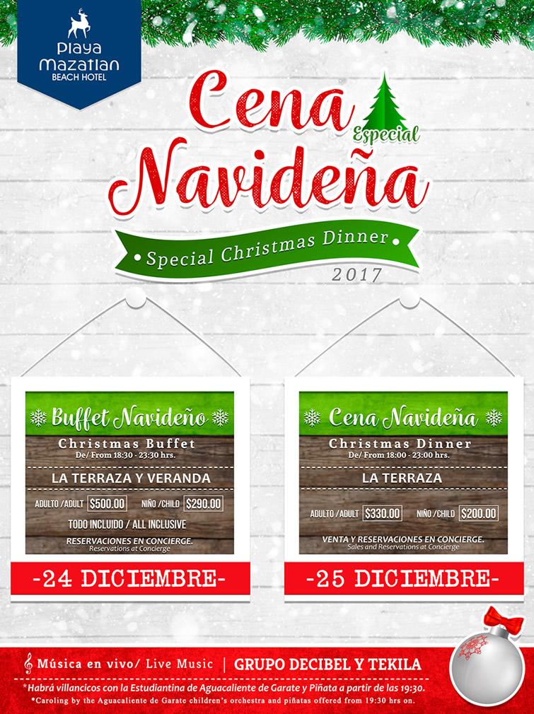 Christmas Dinner Hotel Playa Mazatlan - christmas luncheon flyer