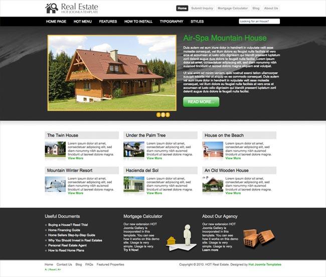 Joomla Real Estate Template - Hot Real Estate - HotThemes