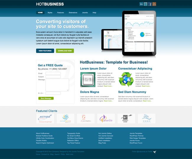 Joomla Business Template - Hot Business - HotThemes