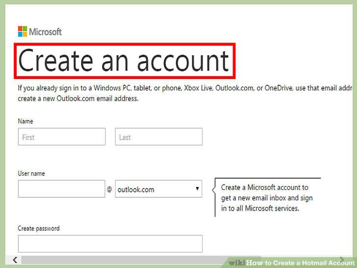 How to Create a Hotmail Account? - create outlook account