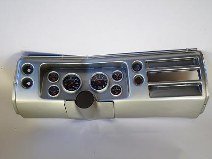 Classic Thunder Road 68 Chevelle Brushed Aluminum 6 Gauge Panel with