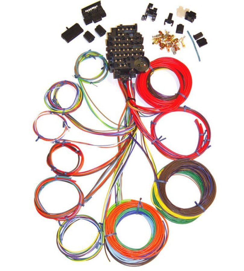 Universal 18 Circuit Auto Wiring Harness HotRodWires