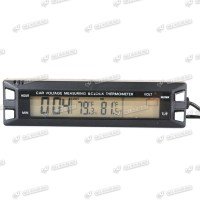 12V LCD Thermometer Spannungsmonitor fr Auto Innen/Aussen ...