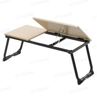 Portable Folding Laptop Table Stand Desk Wooden Lap Bed