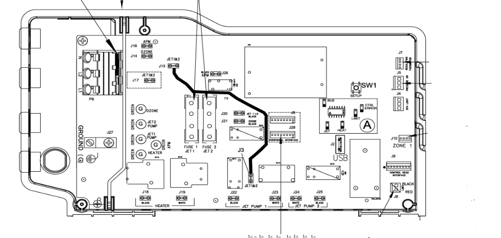 caldera spas wiring diagrams
