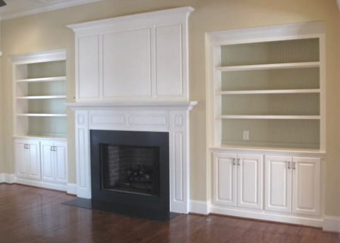My Class Fireplace Bookshelves