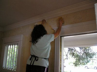 How to Remove Wallpaper Glue - The Practical House Painting Guide