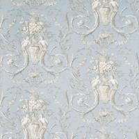 Cherubs Toile Wallpaper - Sky/Graphite/Cream (DEGTCH102 ...