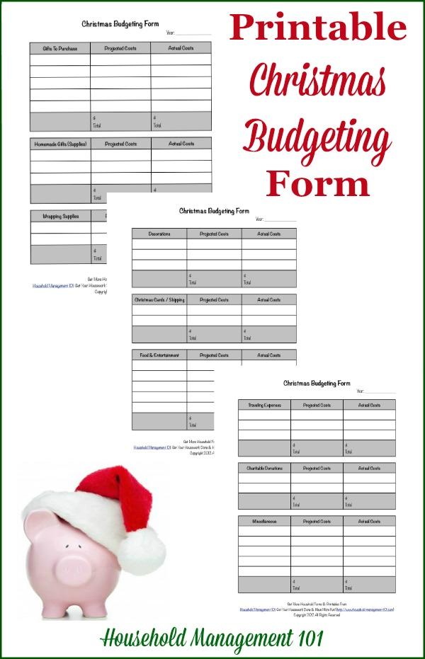 Put Your Christmas On A Budget Why  How, Plus Free Printable Form