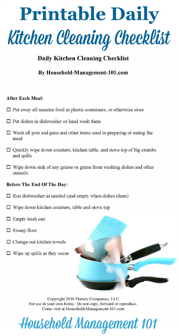 Kitchen Cleaning Tips - Daily Tasks For A Clean Kitchen