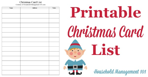 Christmas Card List Printable Plan Who You\u0027ll Send Cards To This Year
