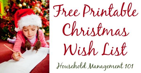 Free Printable Christmas Wish List For Kids  Adults