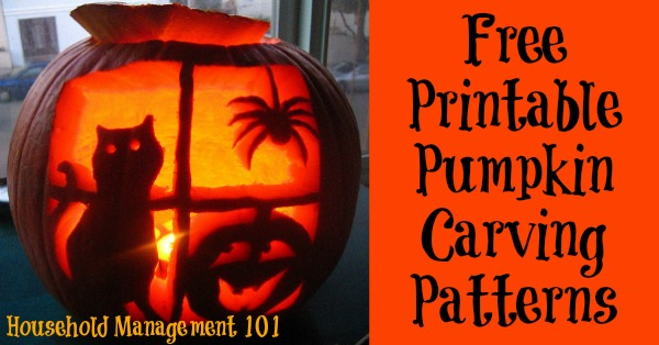 Printable Pumpkin Carving Patterns And Stencils You Can Use