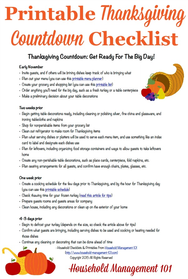 Free Printable Thanksgiving Planner {6 Forms Included}