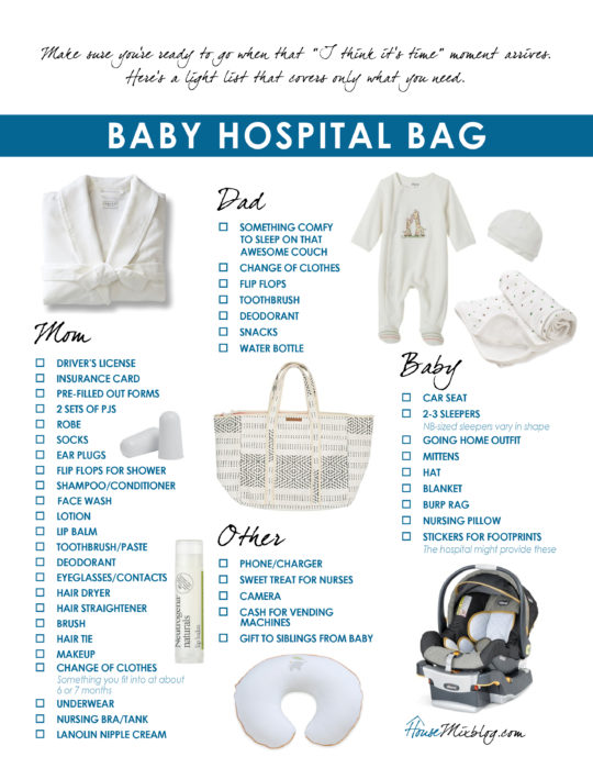 Most pinned baby checklists, printables and ideas House Mix - newborn checklist